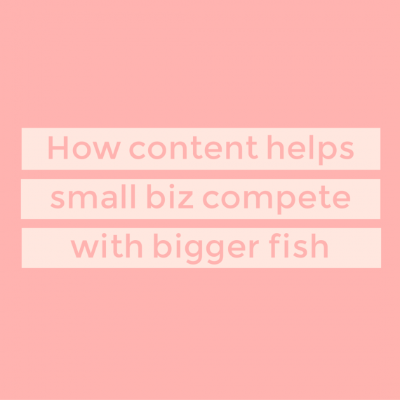 Got big competition? Consider content marketing one way to even the playing field (and captivate your target audience). | via SeeBrittWrite.com
