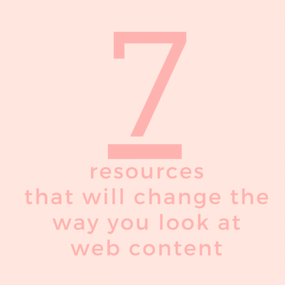 These 7 resources will change the way you think about content marketing | via SeeBrittWrite.com