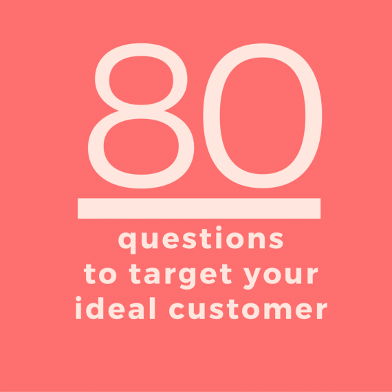 Develop a customer avatar | The first step to selling your products and services is to target your ideal customer. Here are 80 questions to help you get started! | SeeBrittWrite.com