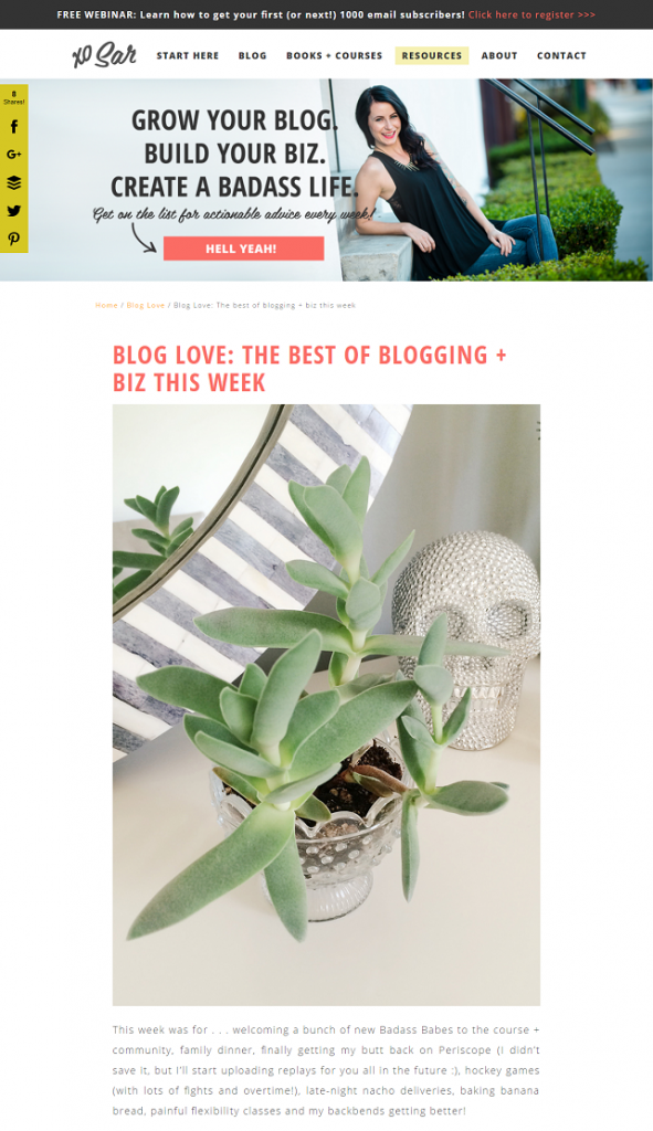 Link Round-Up Love | XO Sarah Morgan's Weekly Post | via SeeBrittWrite.com