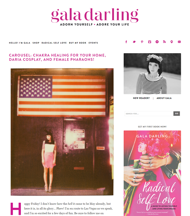 Link Round-Up Love | Gala Darling's monthly Carousel post | via SeeBrittWrite.com