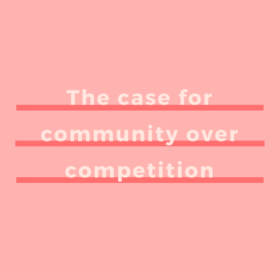 Jealousy isn't a good look for you, boss babe. Your competition doesn't have to raise your hackles. Buddying up with them can actually boost your business. I'm talking community over competition. This is why (and how) you should make it happen | via SeeBrittWrite.com