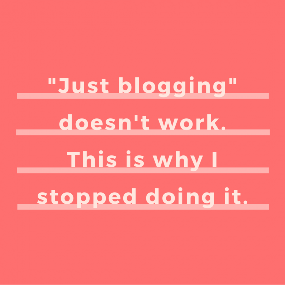 Just blogging doesn't work. Listen up, bosses: You need to make your own way. This is why. | via SeeBrittWrite.com