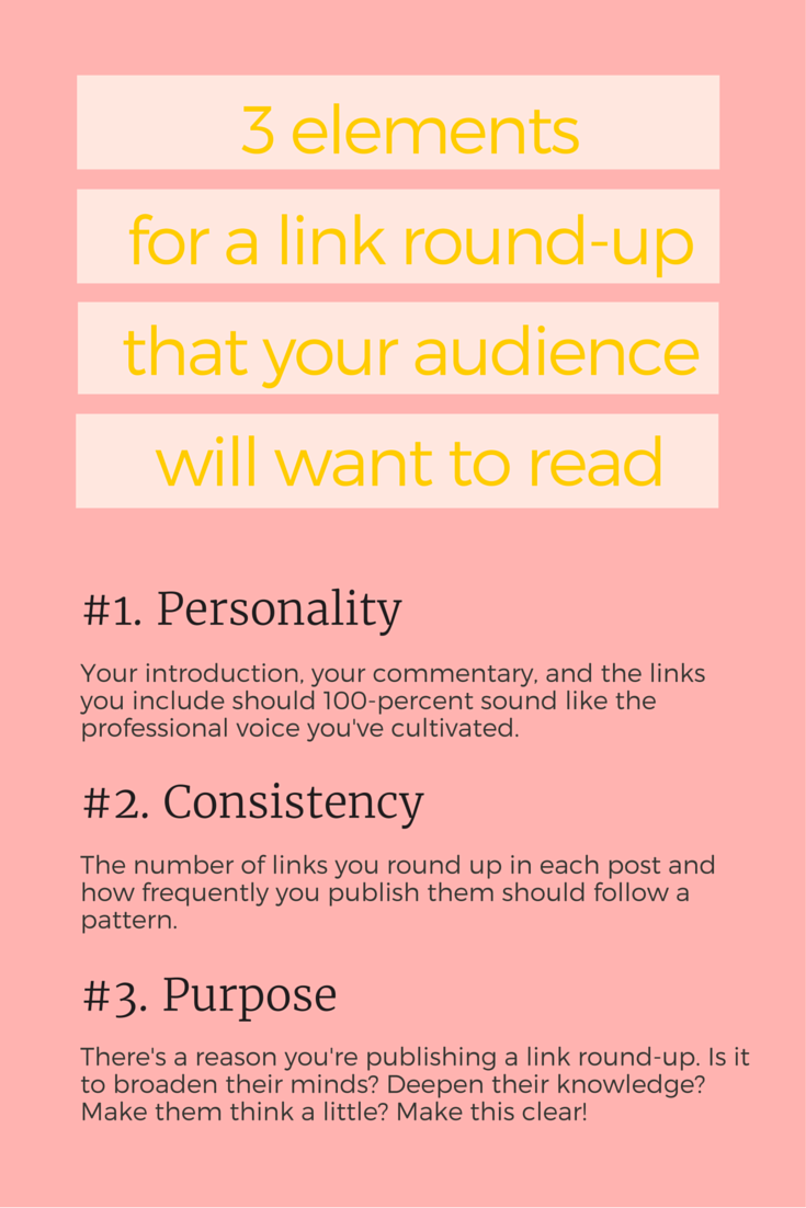 You can't just dump your tabs and expect your audience to rave about your link round-up. Here's how to write a link round-up post that your audience will look forward to reading, every single time you hit publish. | via SeeBrittWrite.com