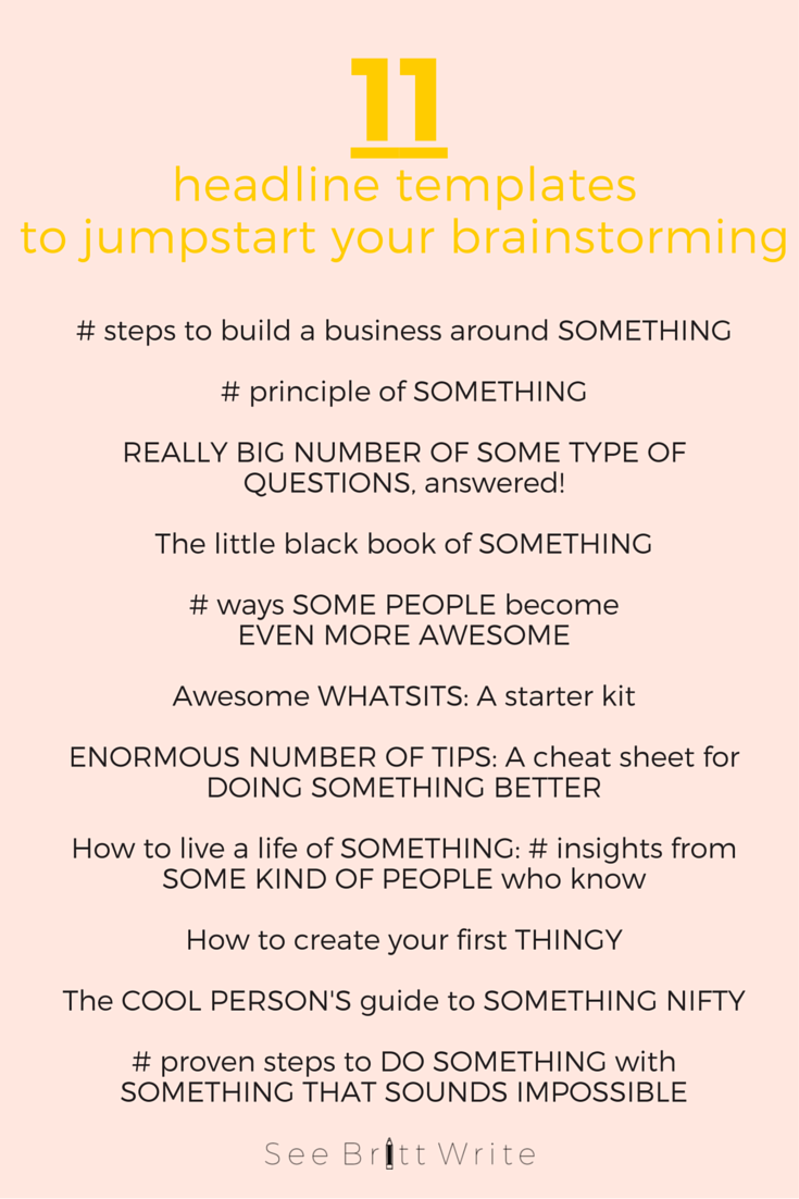 Paralyzed by brainstorming overwhelm? The Big-Picture Method lets you brainstorm in a simpler way that keeps your goals in sight rather than the scads of possibilities. Click through for the step-by-step process (and situations that are perfect for it) | via SeeBrittWrite.com