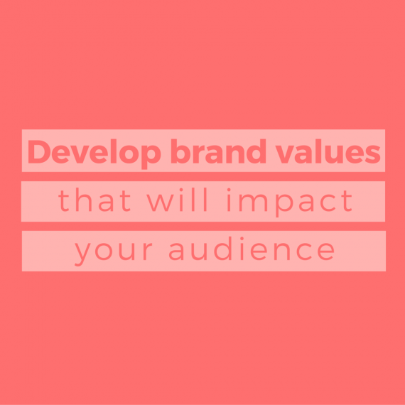 Q: What does your business stand for? | Develop brand values that resonate with you AND your audience with these 3 steps. | via SeeBrittWrite.com