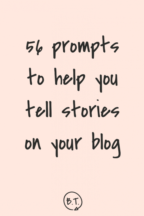 Want to bring personal details into your brand, but not sure where to start? These 56 storytelling prompts will help ease you into sharing more of yourself on your blog, in your email newsletter, and on social media. | via Brittany Taylor at seebrittwrite.com | brand stories for professional people
