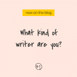 You can't fix a problem you aren't aware of. What's your biggest challenge—and how should you approach it? This post tackles what kind of writer you are, and what strengths and weaknesses come with it. | by Brittany Taylor | brand stories for professional people
