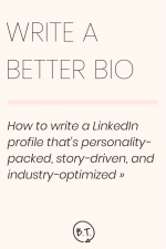 A bio is your first impression for the professional world. It's how you hook readers and build your network. Here's the process I follow to write a LinkedIn profile that leads to more connections, more job opportunities, and more success. | by Brittany Taylor | Brand stories, blog posts, and bios for professional people