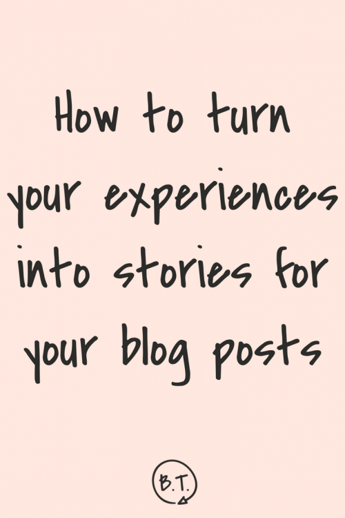 Personal stories draw readers into your content marketing and help them form a relationship with you. But what's the step-by-step process for turning a story into a piece of relevant content? Here's how to write a blog post from your personal experiences. | by Brittany Taylor | Brand writing for professional people