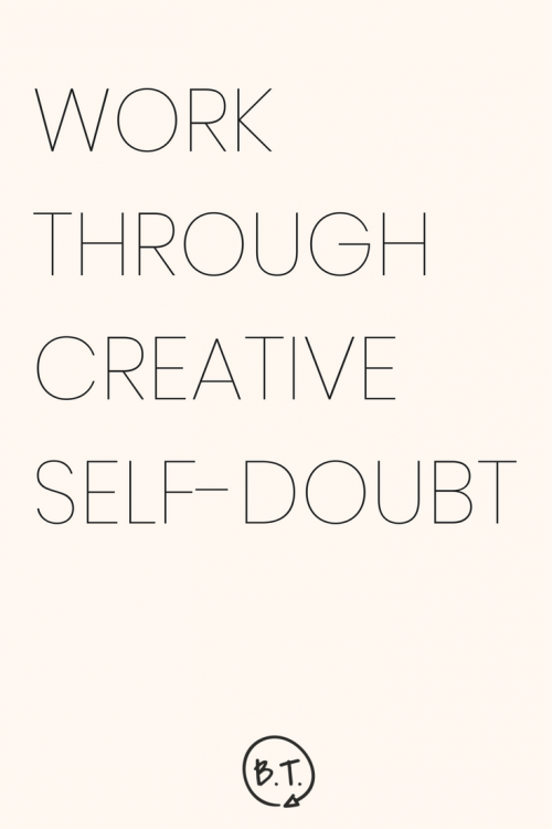 Suddenly unsure of the path you've chosen? If you're a creative, that's totally normal. Here, professionals sound off on creative self-doubt and getting through it with your project intact. | by Brittany Taylor | Brand stories, blog posts, and bios for professional people