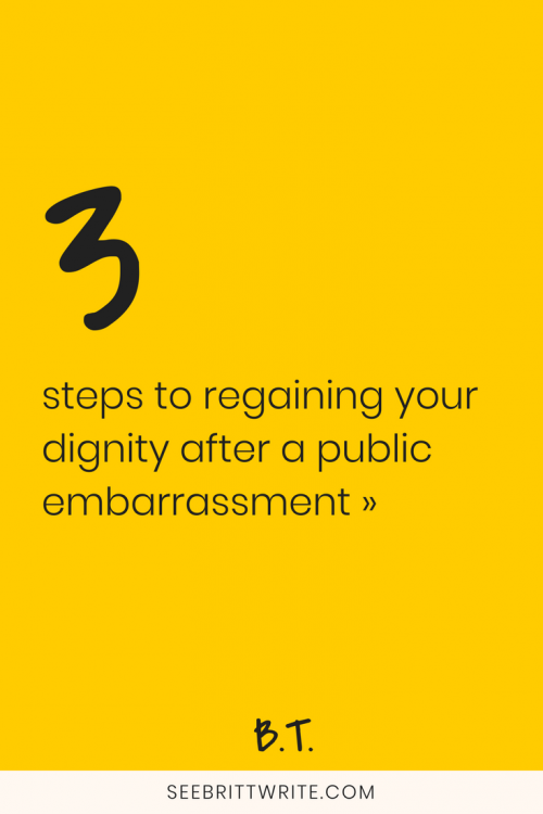 Here's the story of the time I humiliated myself on social media in front of someone I admired, how I got over it, and how you can, too. Here's exactly what to do after you embarrass yourself in public.