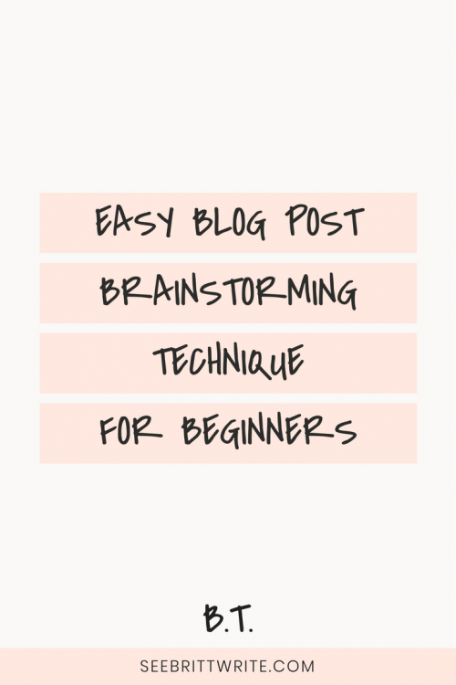 Have a blog but have no idea what to post on it? Learn to use the easiest brainstorming tactic for beginner bloggers. Here's ow to use word association to brainstorm blog posts that serve your brand and stand out from your competition's content.
