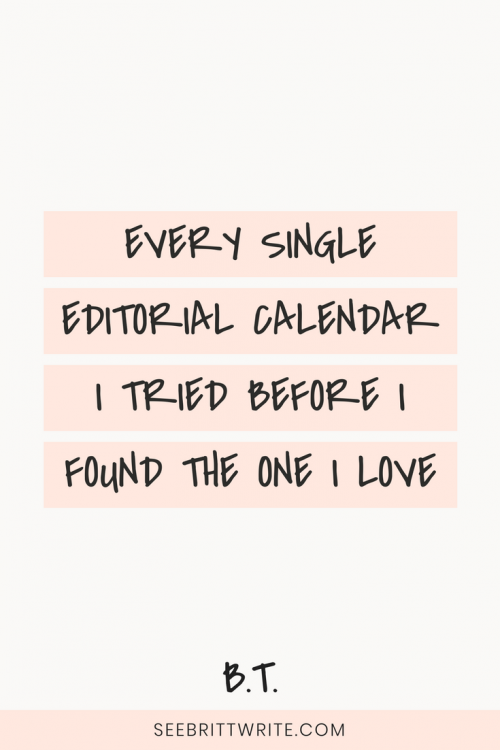 I was the queen of the editorial calendar...until I tried to create one for myself. Here is every single content management system I tried and failed with, and the editorial calendar I created that finally works for my online business.