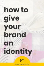 Your brand is how others think of you and your creative business. Your brand identity are the different characteristics that comprise that image or idea of you and your work. Here