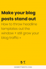 Forget the numbers and the keywords. Rules are meant to be broken—and rules for blog post headlines are no different. This is one really good reason not to use formulas or templates when you write headlines for your blog posts.