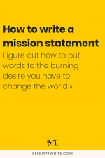 A clear + concise guide to telling the world exactly what you were put here to do, who you help, and how you do it. Welcome to the mission statement boot camp for online business owners, creative entrepreneurs, shop owners, and bloggers.