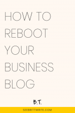 "Graphic reading ""How to reboot your business blog"""