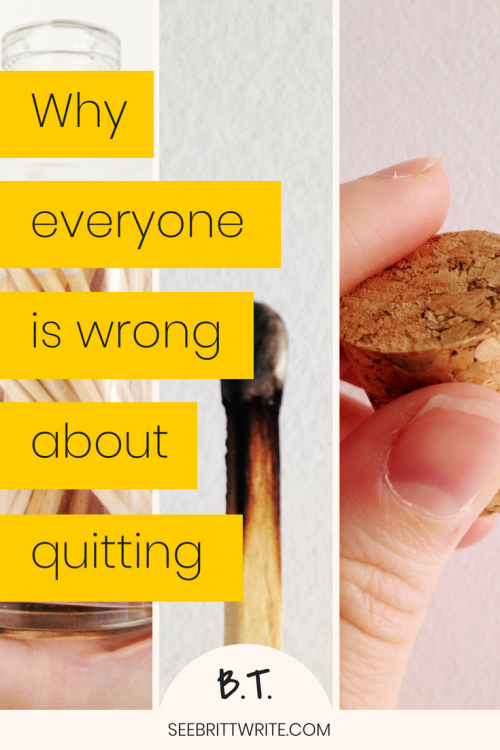 "Graphic reading ""why everyone is wrong about quitting"""