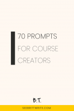 Pink graphic with text reading: 70 prompts for course creators